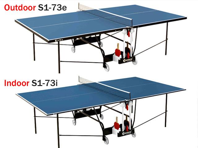 Tischtennisplatte Outdoor und Tischtennisplatte Indoor
